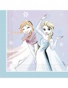 20 Serviettes en papier La Reine des Neiges™ 33 cm