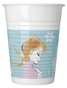 8 Gobelets en plastique La Reine des Neiges™ pastel 200 ml