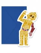 6 Cartons d'invitation + enveloppes Star Wars Forces™