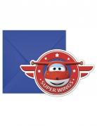 Vous aimerez aussi : 6 Cartons d'invitation avec enveloppes Super Wings™ 20 x 13 cm