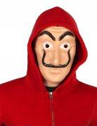 Masque de voleur à moustache noire adulte