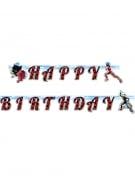 Guirlande en carton Happy Birthday Ladybug™ 15 cm x 2 m
