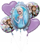 Bouquet de 5 ballons aluminium La Reine des Neiges™