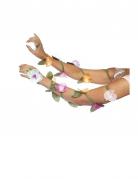 Laçage pour bras fleurs femme