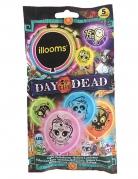 5 Ballons led Illooms™ divers coloris Dia de los muertos