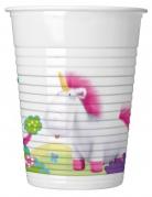 8 gobelets en plastique Minions Licorne™ 200 ml