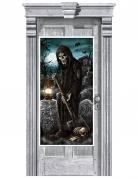 Décoration de porte cimetière hanté 165 x 85 cm