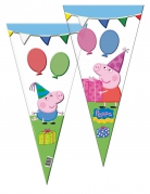 10 Grands sacs en forme de cône Peppa Pig™ 30 x 60 cm