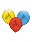 8 Ballons en latex Spiderman™ multicolores