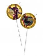 6 Pailles médaillons Avengers Infinity War™