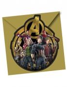 6 Cartons d'invitation avec enveloppes Avengers Infinity War™