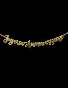 Guirlande Joyeux Anniversaire métallisée dorée 1,80 m