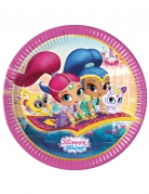 8 Assiettes en carton Shimmer and Shine™ 23 cm
