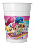 8 Gobelets en plastique Shimmer and Shine™ 200 ml