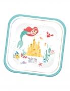 4 Assiettes en carton carré premium Ariel™ 24 x 24 cm