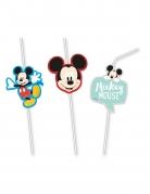 6 Pailles flexibles médaillon premium Mickey™