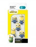 6 Mini figurines en sucre 2D Minions™ 19 g