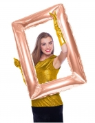 Ballon en aluminium Cadre rectangulaire rose gold 85 x 60 cm