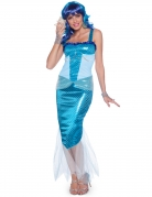 Déguisement Sirène bleu femme