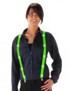 Bretelles LED vert fluo adulte