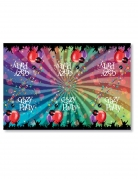 Nappe en plastique Crazy Party 130 x 180 cm