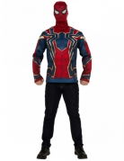 T-shirt et masque Iron spider Infinity War™ adulte