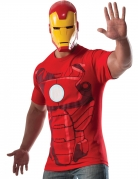 T-shirt avec masque Iron man™ adulte