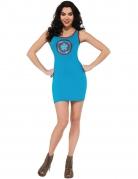 Déguisement robe à strass bleue Captain America™ femme