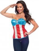 Corset en sequin Captain America™ femme