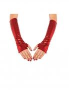 Manchettes métallisées rouges Spidergirl™ femme