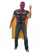 T-shirt avec muscles et masque Vision Captain America Civil War™ adulte