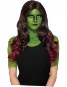Perruque Gamora Les Gardiens de la Galaxie 2™ adulte