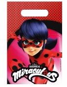 6 Sacs de fête Ladybug™ 23 x 16 cm