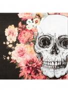 Vous aimerez aussi : 12 Serviettes en papier squelette fleuri 33 x 33 cm