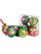 4 Boules de Noël Winnie L'Ourson™ 7,5  cm