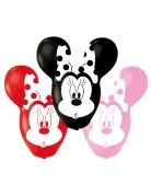 4 Ballons en latex Minnie™ oreilles géantes 55,8 cm