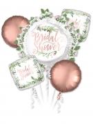 5 ballons aluminium rose gold & végétal Bridal Shower