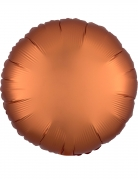 Ballon aluminium rond satin cuivré 43 cm