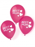 6 Ballons en latex Best Mum roses 27,5 cm