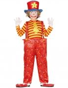 Déguisement clown rigolo multicolore garçon