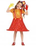 Déguisement clown rigolo multicolore fille
