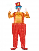 Déguisement clown rigolo multicolore homme