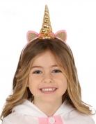 Serre-tête licorne or et rose enfant