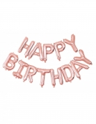 Ballons aluminium Happy Birthday rose gold 305 x 35 cm
