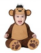 Déguisement combinaison singe marron bébé
