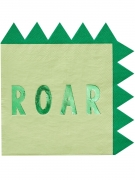 Vous aimerez aussi : 16 Serviettes en papier dinosaure vertes métallisées 33 cm