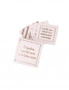 Boite de jeu de 35 cartes questions EVJF rose gold 7 x 7 cm