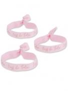 8 Bracelets EVJF de folie rose et rose gold 1,5 x 10 cm
