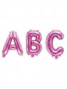 Ballon aluminium lettre fuchsia 35 cm