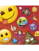 16 Serviettes en papier Emoji Rainbow™ 33 x 33 cm